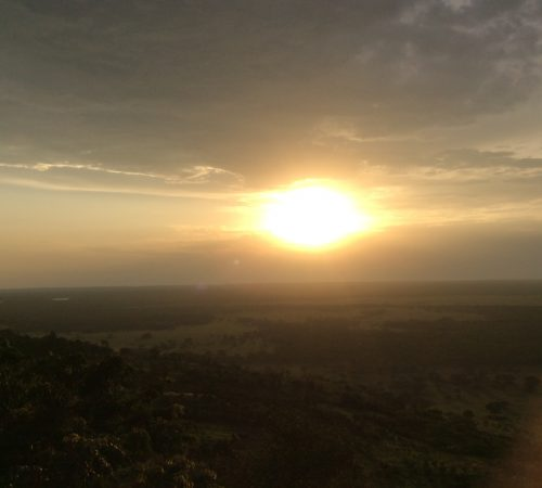 Sunset: As viewed from the Rift Valley Game Lodge